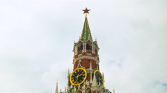 "Kremlin clock ""chimes"", time-lapse Stock Footage"