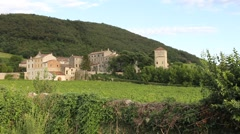 Panoramic of medieval hamlet Campolongo in Veneto Stock Footage
