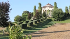 Villa Almerico Capra La Rotonda made by Andrea Palladio in Vicenza Stock Footage