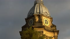 Birmingham Cathedral tower early morning. 4K Stock Footage