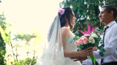 Amazing bride and groom Stock Footage