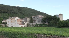 Panoramic of Campolongo, rural medieval hamlet in Veneto Stock Footage
