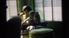1951: mother and child CHATHAM, NEW JERSEY Stock Footage