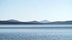 Tranquil View of Lake and Mountains Stock Footage