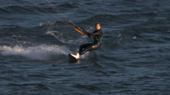 Kite Surfer, Kite Surfing, Columbia River, Columbia Gorge Stock Footage