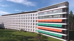 Paimio Sanatorium designed  by architect Alvar Aalto Stock Footage