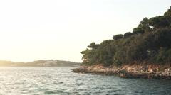 Beautiful Landscape of the Croatian Coast Stock Footage