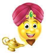 Genie Magic Lamp Emoji Piirros