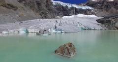 Glacier lake - Big crevasses in a glacier Stock Footage