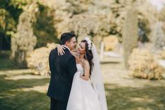 Magical festive wedding day Stock Photos