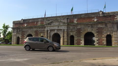 Porta Nuova, gate to the old town of Verona. Stock Footage