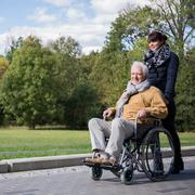Senior spending leisure time outdoors Stock Photos