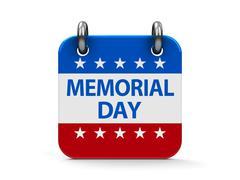 Memorial day icon calendar Stock Illustration