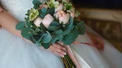 Wedding bouquet. Closeup Stock Footage