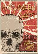Halloween Party grunge poster Stock Illustration