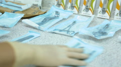 Medical dental and surgical instruments Stock Footage
