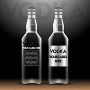Vector vodka bottles mockup with your label here Stock Illustration