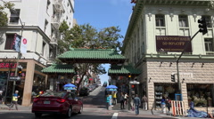 China town San Francisco Stock Footage