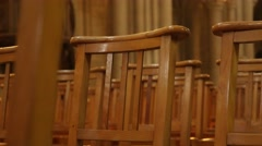 Christian religious building interior with chairs in a row 4K 2160p 30fps  Stock Footage