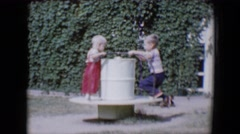 1958: this is me and my brother, so we when were little used to play  Stock Footage