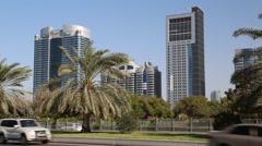 Abu Dhabi - capital of the United Arab Emirates Stock Footage