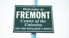 Welcome to Fremont Seattle, Washington Stock Footage