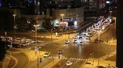 Dubai traffic at night, United Arab Emirates Stock Footage