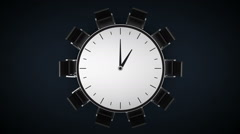 Conference table changes tme watch, indicated 1 o'clock. business room. Stock Footage