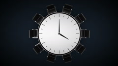 Conference table changes time watch, indicated 4 o'clock. business room. Stock Footage