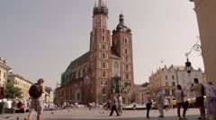 Cracow Old Town Stock Footage