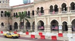 Sultan Abdul Samad Building in Kuala Lumpur, Malaysia Stock Footage