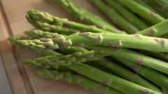 Green asparagus Stock Footage