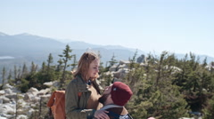 Romantic Moment on Hiking Trip Stock Footage