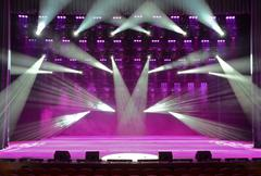 Concert stage Stock Photos