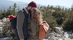 Young Couple on Romantic Adventure Stock Footage