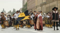 4K 2016 Munich Oktoberfest Octoberfest Parade German Beer Festival Germany Stock Footage