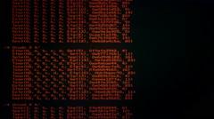 Source code scrambled 8-bit scrolling scarlet Stock Footage
