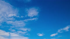 The dynamic movement of clouds in the summer sky. Timelapse. Stock Footage