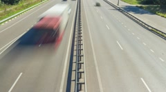 1080i. Car traffic on country highway Stock Footage