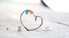 I Love Dad, happy, multicolored letters and heart, fathers day idea Stock Footage