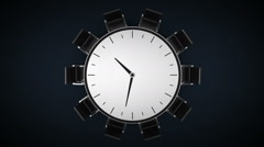 Conference table changes time watch, indicated 11 o'clock. business room. Stock Footage