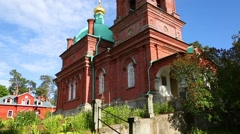 Voskresensky skete on the famous Valaam Island in Northern Russia Stock Footage