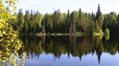 Bay on the island of Valaam on Lake Ladoga in Russia Stock Footage