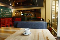 Modern restaurant, bar or cafe interior Kuvituskuvat