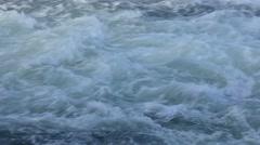 Raging river white water closeup Stock Footage