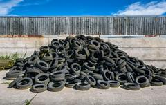 Used Tyre Stck Stock Photos