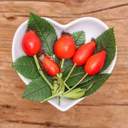Homeopathy and cooking with rose hip Stock Photos