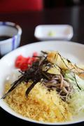 Soba with tempura noodle Japanese food Stock Photos
