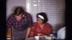 1968: sharing a meal COTTONWOOD, ARIZONA Stock Footage