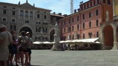 Piazza dei Signori in Verona Stock Footage